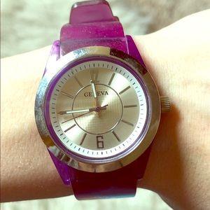 Geneva Purple Jelly Watch